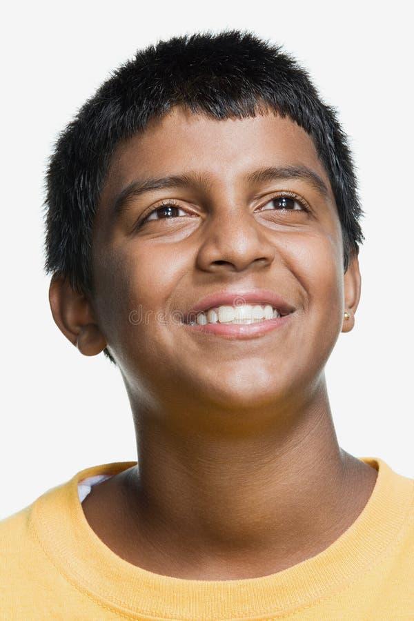 tonårs- pojkestående royaltyfri bild