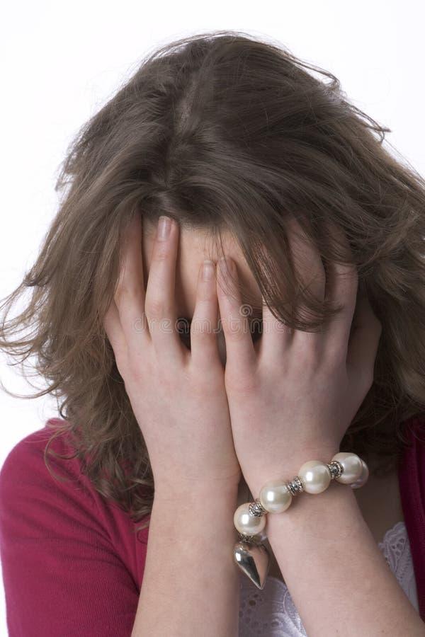 tonårs- skriande desperat flicka arkivfoton