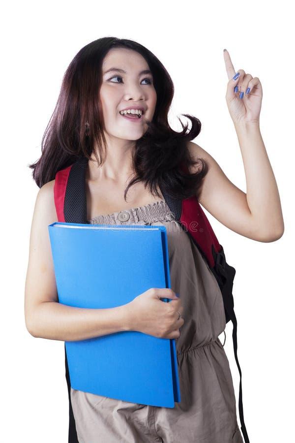 Tonårs- student som får en tanke eller en idé arkivfoto
