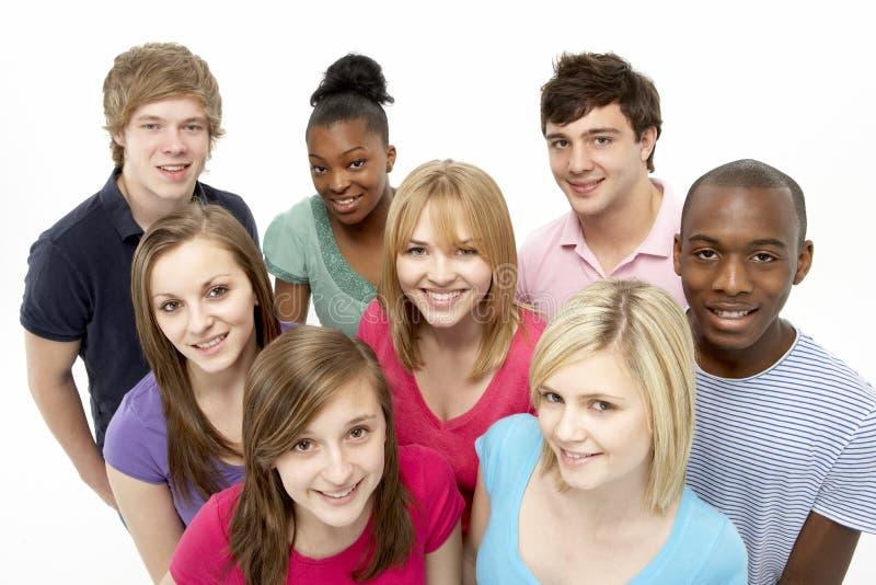 tonårs- vängruppstudio royaltyfri bild