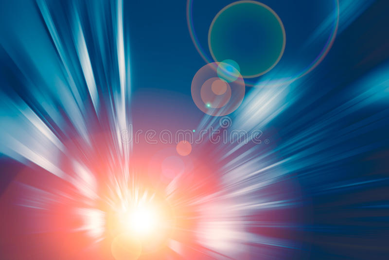 Ton bleu de technologie de la vitesse rapide mobile de mouvement de tache floue goto le futur concept photographie stock