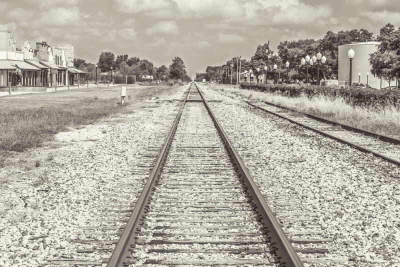 Ton de Sephia de voies ferrées photos libres de droits