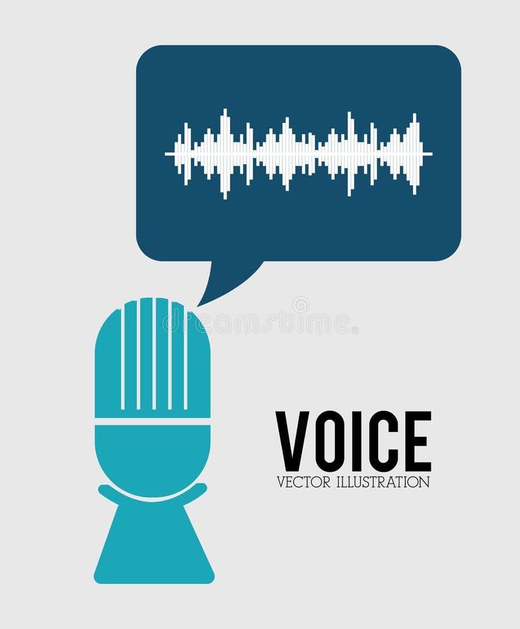 Ton der Stimme stock abbildung