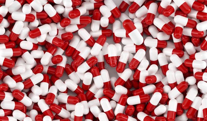 ton för pills för blåa dof-lott låg royaltyfri illustrationer