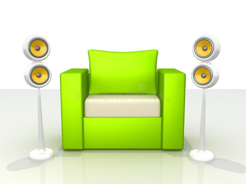 Ton und Auslegung lizenzfreie abbildung
