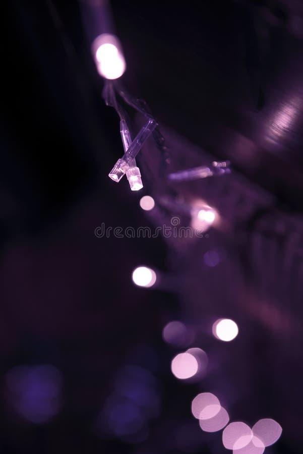 Ton violet de couleur de lumières électriques de LED image stock