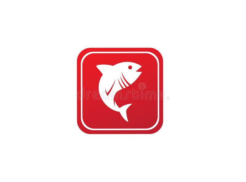 Tona ontwerpen de blauwe vissen in symbool illustratie, pictogram van het tonijn het mariene leven in de vorm vector illustratie