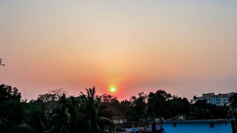 Tonalidad de la puesta del sol imagen de archivo