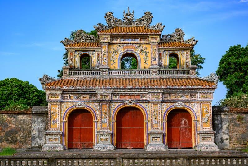 Tonalidad imperial de la ciudad, puerta de Vietnam de la ciudad Prohibida de la tonalidad imagen de archivo