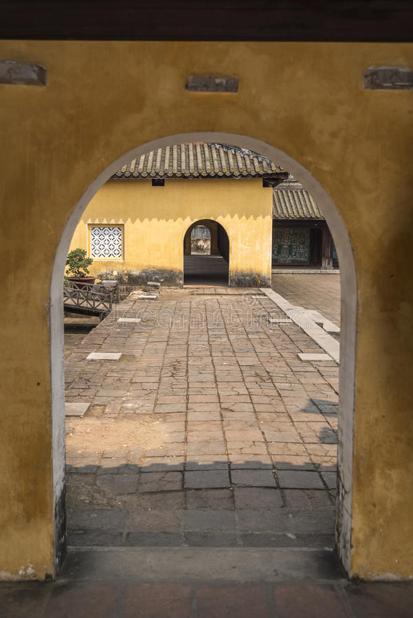 Tonalidad imperial del palacio de la arcada fotografía de archivo libre de regalías
