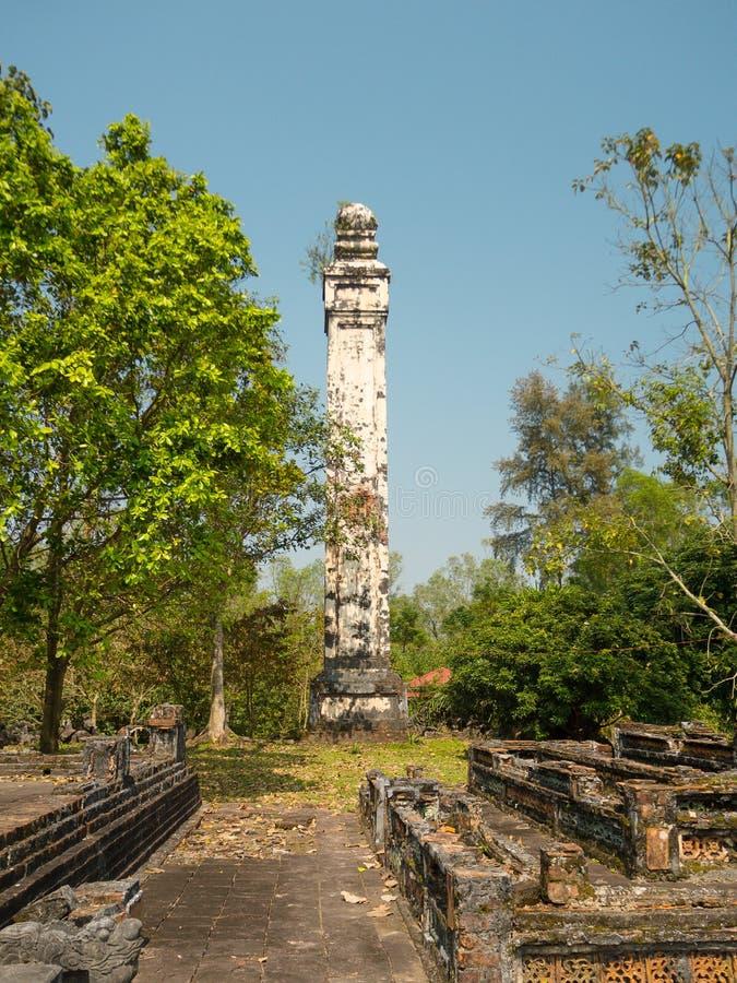 Tonalidad, Vietnam - 13 de septiembre de 2017: Estructura blanca hermosa, en un parque en tonalidad foto de archivo libre de regalías