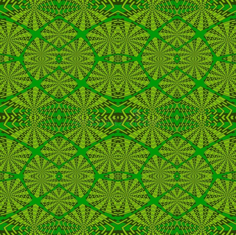 Tonalità complesse regolari di verde del modello dei quadrati illustrazione vettoriale