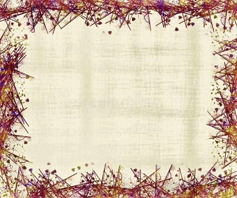Tonalità del telaio o del bordo rosso illustrazione di stock