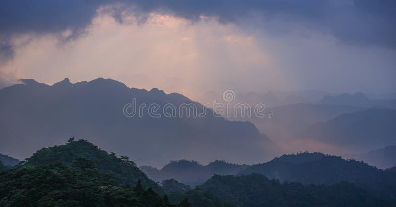50 tonalità di alba in parco nazionale immagine stock libera da diritti