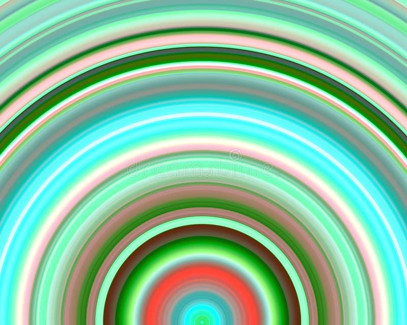 Tonalità rosse verdi al neon Sundawn di arte generativa illustrazione vettoriale