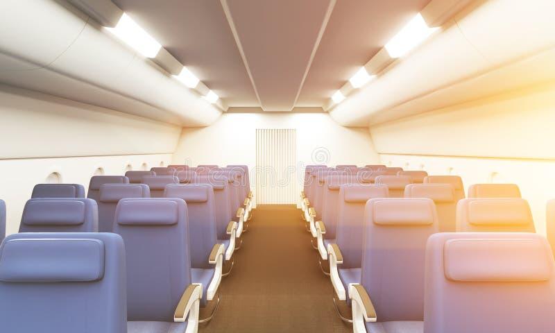 Tonalité d'intérieur d'avion illustration stock
