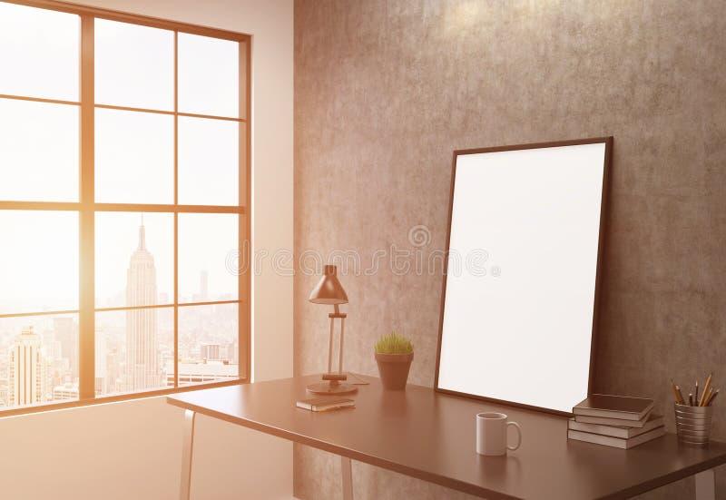 Tonalité latérale de cadre blanc illustration stock