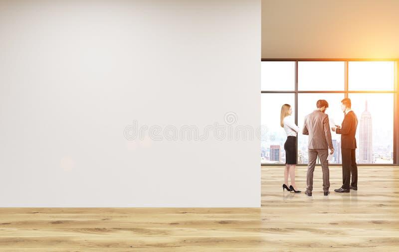 Tonalité vide de mur de bureau illustration stock