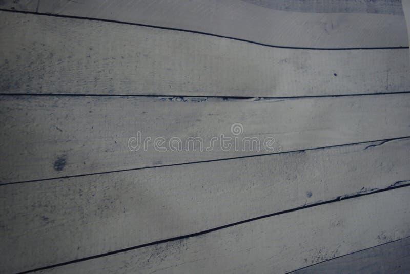 Tonar målar träbräden för vit konstruktion med målning och blått och arkivbilder