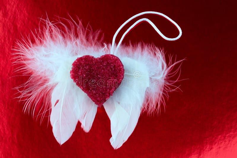 Tonat foto för ängelvinghjärta förälskelse royaltyfri foto