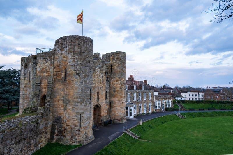 Tonbridge Castle i september 2019 arkivbild