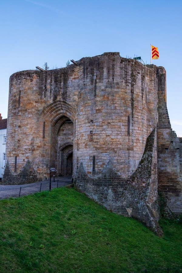 Tonbridge Castle i september 2019 arkivfoton