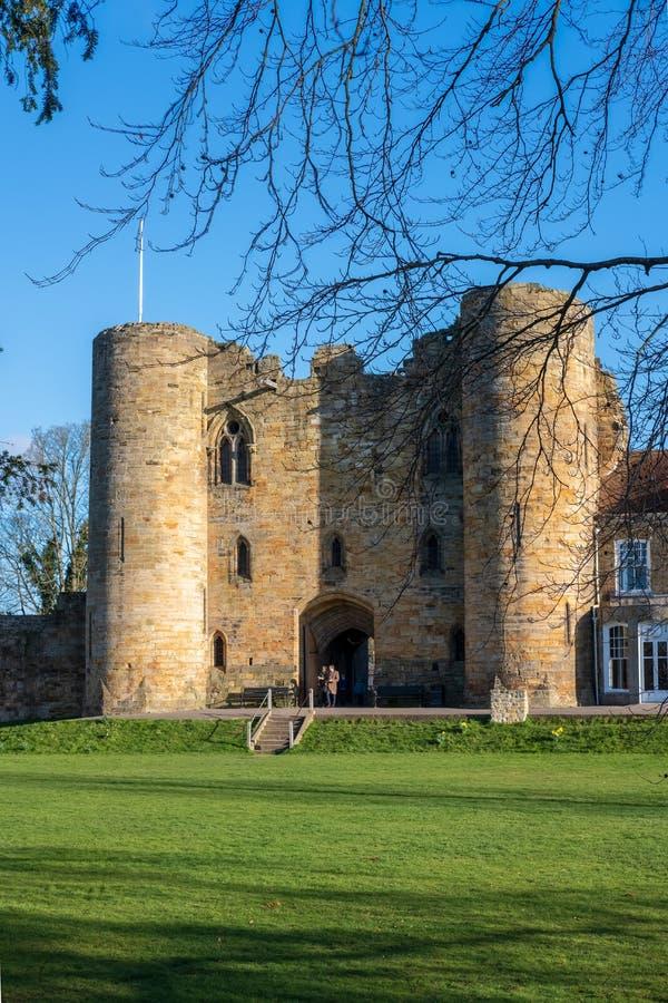 Tonbridge Castle i september 2019 royaltyfri fotografi