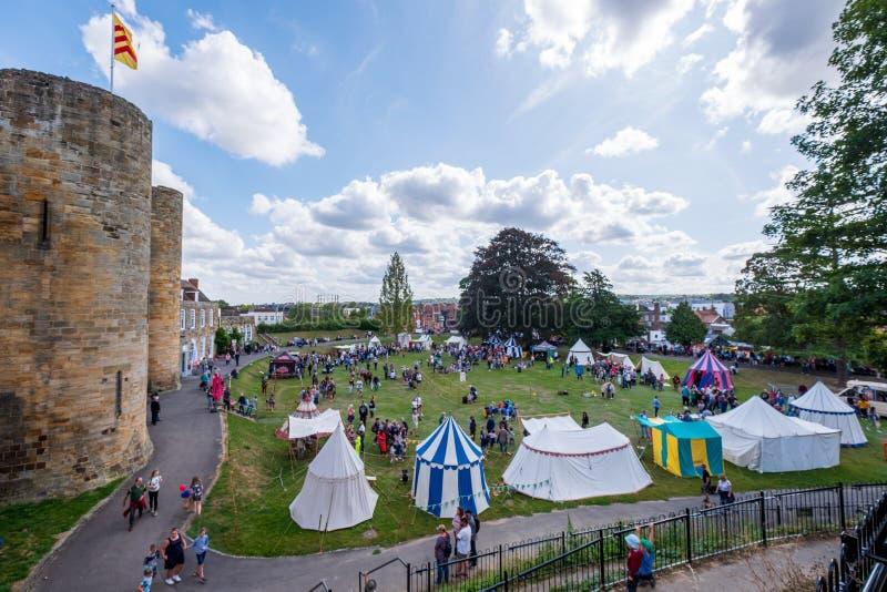Tonbridge Castle Medieval Fair September 2019 royalty free stock photography