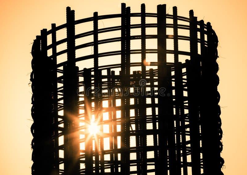 Tondo per cemento armato di riserva a costruzione fotografie stock