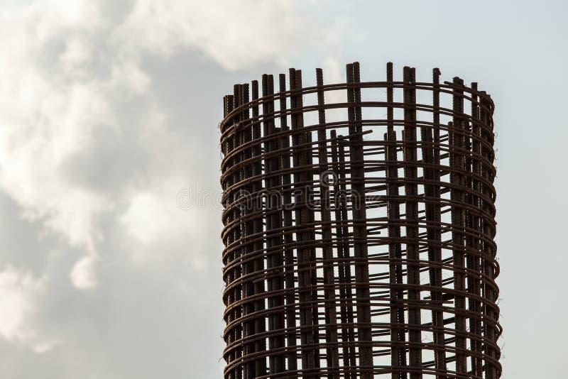 Tondo per cemento armato di riserva a costruzione immagini stock