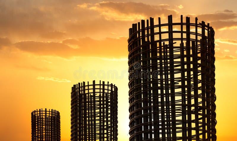 Tondo per cemento armato di riserva a costruzione fotografia stock libera da diritti
