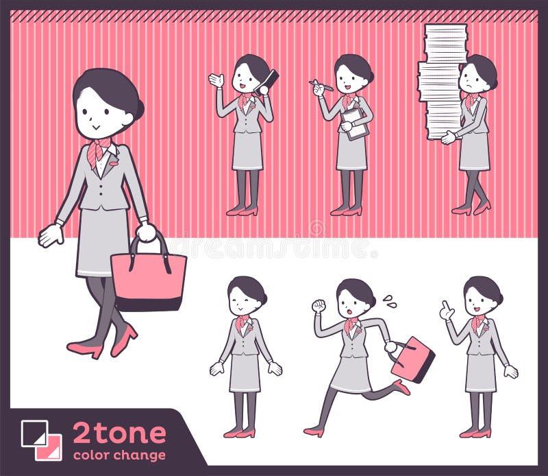 2tone υπάλληλος women_set 02 καμπινών τύπων ελεύθερη απεικόνιση δικαιώματος
