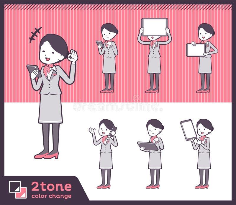 2tone υπάλληλος women_set 06 καμπινών τύπων διανυσματική απεικόνιση
