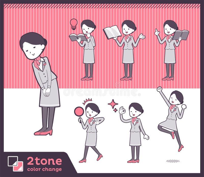 2tone υπάλληλος women_set 05 καμπινών τύπων απεικόνιση αποθεμάτων