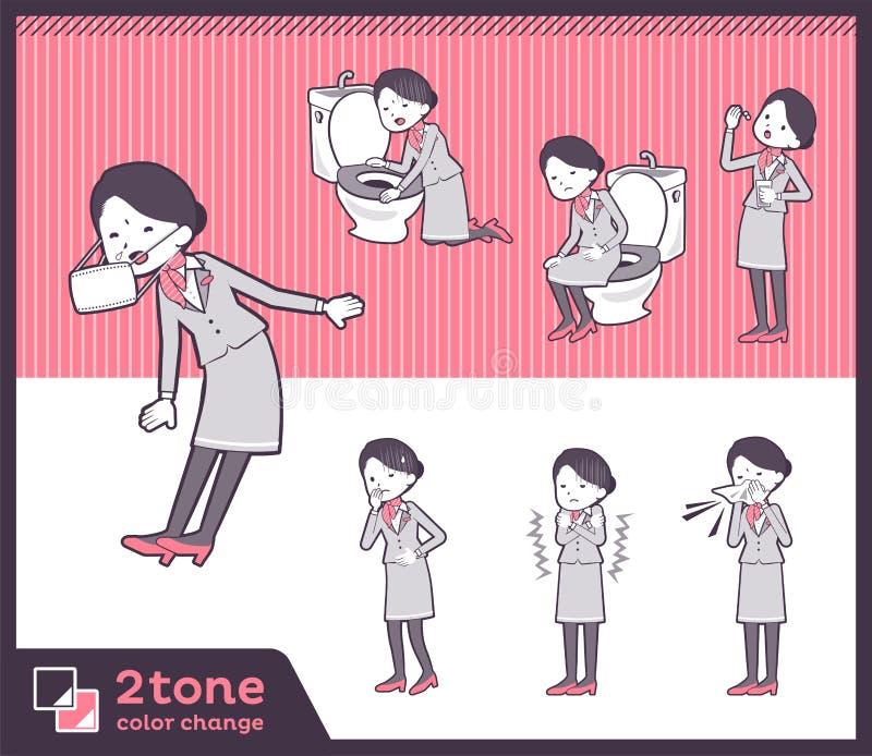 2tone υπάλληλος women_set 09 καμπινών τύπων ελεύθερη απεικόνιση δικαιώματος