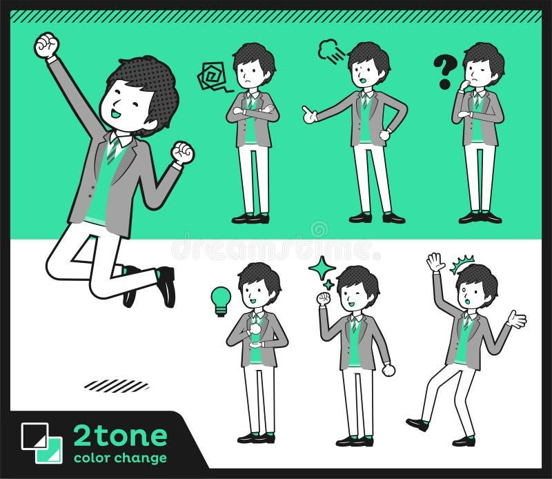 2tone тип men_set 01 куртки & жилета иллюстрация штока
