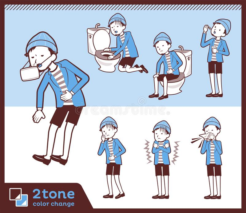 2tone kurtek Krótkich spodń men_set 09 typ ilustracji