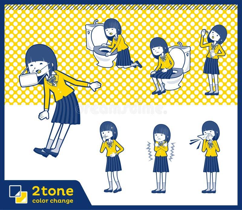 2tone szkoły dziewczyna Blazer_set 09 typ ilustracji