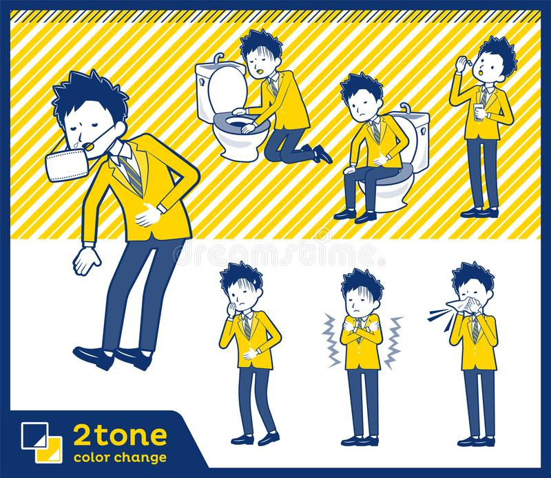 2tone szkolna chłopiec Brown Blazer_set 09 typ ilustracji