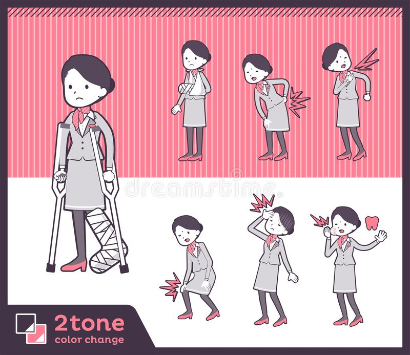 2tone type women_set 08 de personnel navigant commercial illustration stock