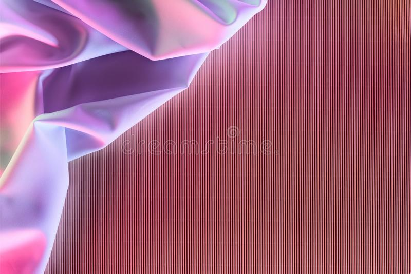 Toned picture of purple soft silk cloth. As backdrop royalty free stock images
