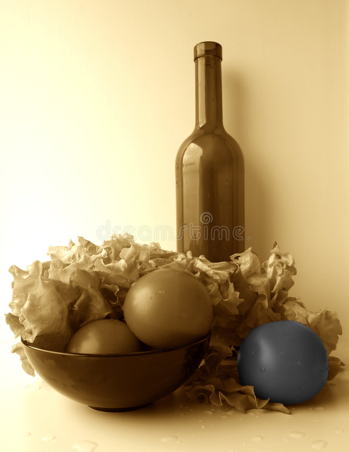 Toned still-life, partially coloured II royalty free stock image