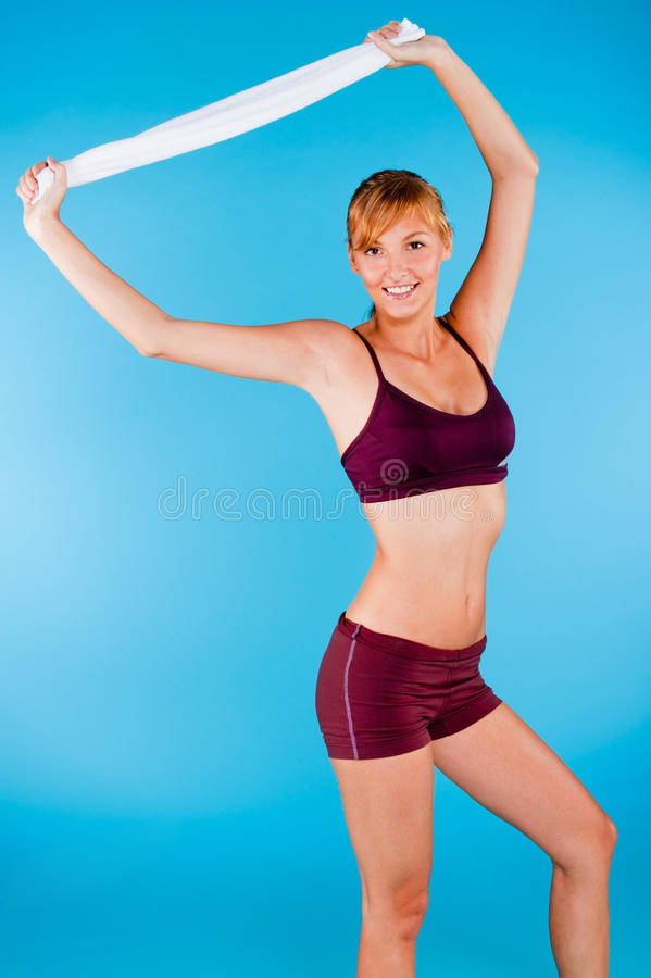 Toned Woman In Sportswear Stock Images