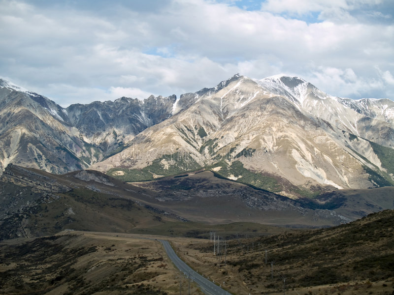 Toneel Alpiene mening royalty-vrije stock foto's