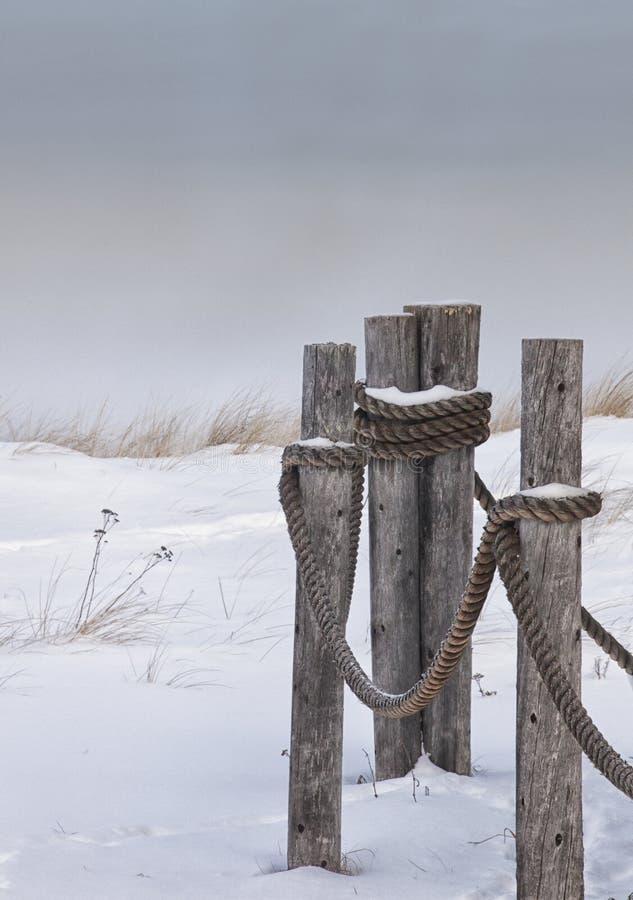 Toneel de winterlandschap stock foto