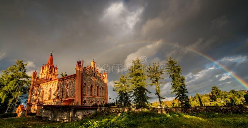 toneel Litouwse aard in dalingsseizoen stock foto's