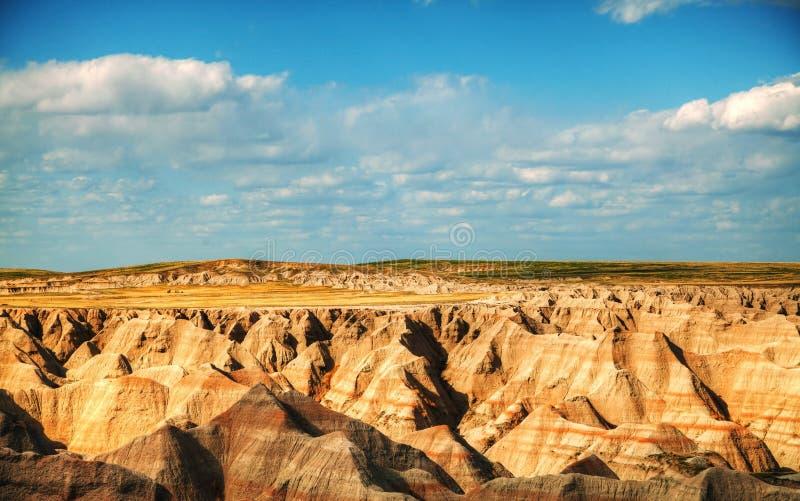 Toneel mening bij Badlands Nationaal Park, Zuid-Dakota, de V.S. royalty-vrije stock afbeelding