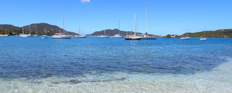 Toneel mening over Tortola stock fotografie