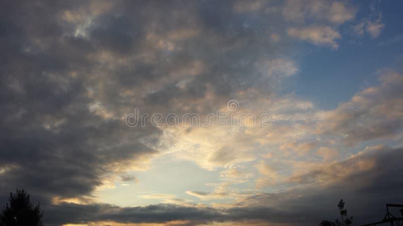 Toneel zonsondergang royalty-vrije stock foto