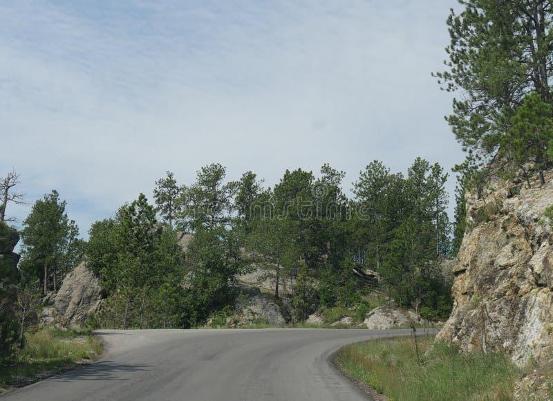 Toneelaandrijving bij Naaldenweg, Zuid-Dakota stock foto's